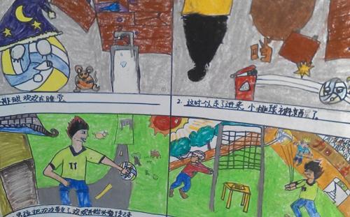 """【排球活动】""""排球周""""主题绘画比赛学生作品--万禹岐"""
