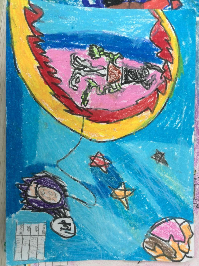 学生优秀科幻画绘画作品_图片新闻_图片中心_图片_汉中市龙岗学校